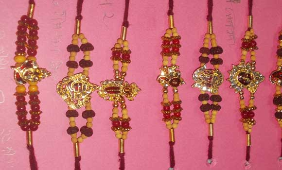 beautiful rakhies made by our girls...